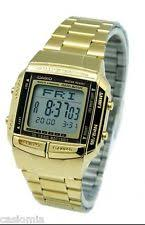 casio databank wristwatches casio db360g 9a mens multi lingual gold stainless steel digital data bank watch