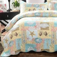 ocean comforter set seashell beach bedding queen theme scene sets