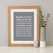 personalised song s print by hope