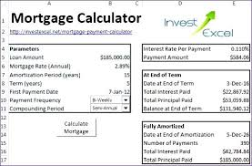 Amortization Table Mortgage Excel Mortgage Amortization Table Excel Template Payment Calculator