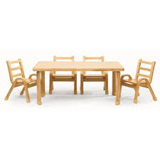 NaturalWood 12\ Toddler Table And Chair Sets | Wayfair