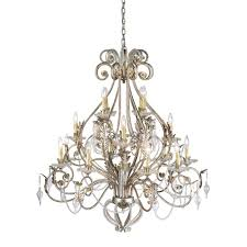 hampton bay allure 16 light antique silver chandelier