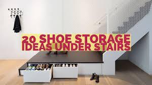 20 Shoe Storage Ideas Under Stairs