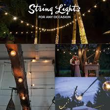 indoor string lighting. 50ft Black String Lights, 60 G40 Globe Bulbs (10 Extra): Connectable, Waterproof, Indoor/Outdoor Lights For Patios, Parties, Weddings, Indoor Lighting R