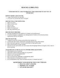 ... Resume Guidelines 2 Guidelines For Resume Writing Twhois ...