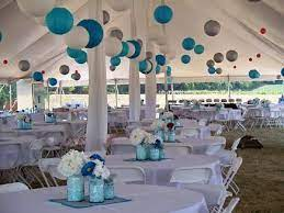 party tent decorations