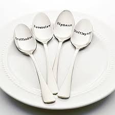 hogwarts houses snless steel sted spoon set of 4 sted silverware harry potter