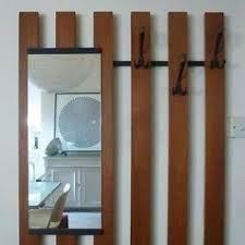 Wall Mounted Coat Hook Rack Wall Mounted Coat Rack With Mirror Foter 59