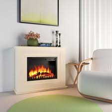 luxury 2kw electric fireplace insert mantel suround led fire log flame heater for