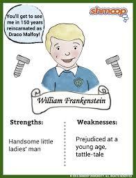 Frankenstein Character Chart William Frankenstein In Frankenstein Chart