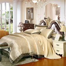 gold white blue jacquard silk bedding set luxury 4 6pcs satin bed set duvet cover king queen bedclothes bed linen sets 29 design jpg