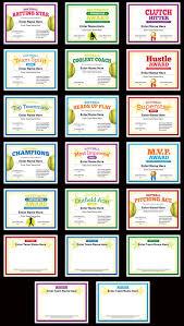Softball Photo Certificates Templates Softball Practice Plan