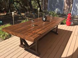 wooden outdoor furniture. Interesting Outdoor Large Wooden Outdoor Dining Table Designs Throughout Furniture