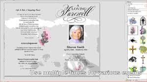 Memorial Program Templates Free 24 Free Funeral Program Template For WordAgenda Template Sample 9