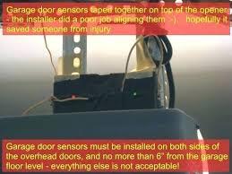 garage door opener sensor garage door sensors overhead door opener sensor troubleshooting garage door sensors have