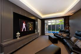 contemporary home theater room furniture. home theater room contemporary with metal urn black footstool furniture e