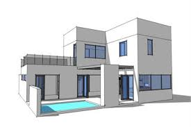 modern house plans. Plain Modern 1161015  Home Plan Rear Elevation Of This 3Bedroom2459 Sq Ft 116 To Modern House Plans O