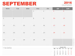 calendar template for powerpoint september 2016 powerpoint calendar presentationgo com