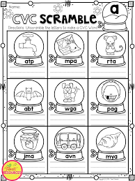 Cvc Christmas Worksheet – Festival Collections
