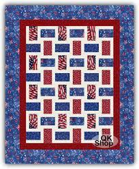 Patriotic Quilt Kits - Quilt Kit Shop & Americana Rail Pre-Cut Quilt Kit Adamdwight.com