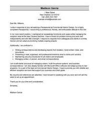Receptionist Cover Letter With Salary Requirements Free Cover Letter Examples For Every Job Search Livecareer