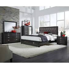 gray bedroom set. ventura 6-piece king storage bedroom collection gray set