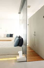 Open Bathroom Bedroom Design Interesting Way To Incorporate An Open Shower Concept In A Hotel
