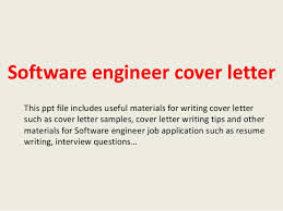 Cover Letter For Experienced Software Engineer Software Engineer Cover Letter