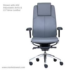 Office Chair With Adjustable Arms High Back Conference Or Executive Leather Chair