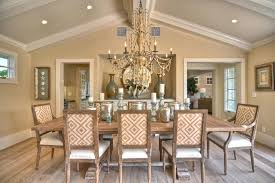 recessed lighting on sloped ceiling crown decor dining room beach style with wood trim ceiling lighting