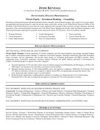 Cover Letter Private Equity Sample Resume Free Example And Writing