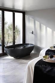 Bathroom: Black Tub And White Decor - Black Bathroom