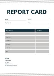 Product Line Card Template Blue And Gray Lines Homeschool Report Card Templates By Canva