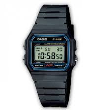 Casio F 91W1YEF Digitaluhr