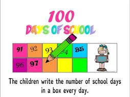 100 Days Of School Display Countdown Chart
