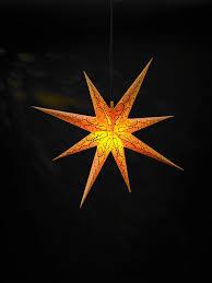 Weihnachtsstern ø 75 Cm Gelb Mit Glitter Adventsstern Mit Beleuchtung Wetterfest Außen Von Gartenpirat