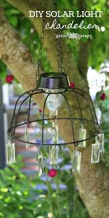 garden solar light chandelier project