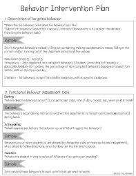 best examples of behavior ideas behavior plans creating a behavior intervention plan bip