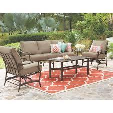 home decorators collection gabriel bronze 4 piece espresso outdoor patio deep seating set with beige