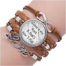 <b>Jesus is my rock</b> and that's how I roll bracelet Faith bracelet ...