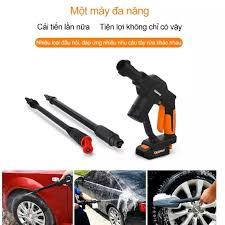 Máy rửa xe tiện lợi siêu sạch dùng pin không dây Lithium Guaxin - Màu đen