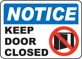 closed door clipart. Closed Sign On Door Notice Keep Clipart Free Clip Art Images