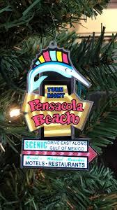 Light Up Pensacola Beach Sign Ornament Animated Pensacola Beach Sailfish Sign Christmas Ornament