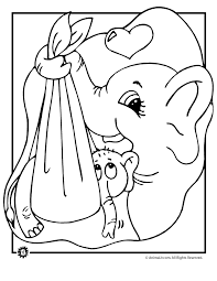 Mother And Baby Elephant Coloring Page Woo Jr Kids Activities