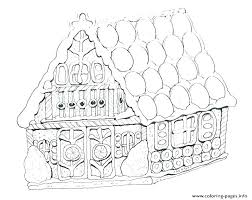 Gingerbread Coloring Page House Pages Blank Hou Auchmar