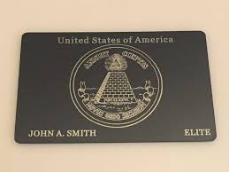 elite usa metal black card