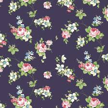 Flower Pattern Wallpaper Extraordinary Antique Rose Navy Flower Pattern Self Adhesive Wallpapers