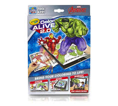 This coloring book is excellent gift for your kids to enjoy and relax! Crayola Avengers Color Alive 2 0 Interactive Coloring Pages Augmented Reality Art Tools Coloring Pages Crayons Free App Included Crayola