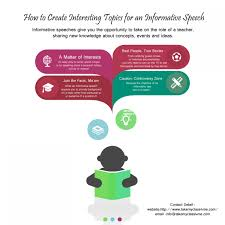 how to create interesting topics for an informative speech visual ly how to create interesting topics for an informative speech infographic