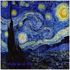 Starry Night Design Lovely Vincent Van Gogh Starry Night Design Square